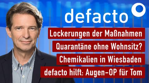 """Die Themen bei """"defacto"""" vom 04.05.2020"""