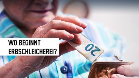 Wo beginnt Erbschleicherei? Ein Retner öffnet seinen Geldbeutel.