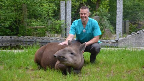 Thomas Fischer ist Tierarzt für das Vivarium in Darmstadt