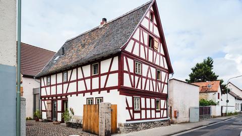 Fachwerkhaus von etwa 1755 in Hanau Klein-Auheim.