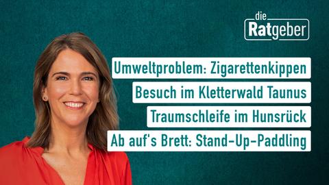 Themen sind: Umweltproblem: Zigarettenkippen, Besuch im Kletterwald Taunus, Tarumschleife im Hunsrück, Ab auf's Brett: Stand-Up-Paddling.