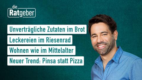 Themen sind: Unverträgliche Zutaten im Brot, Leckereien im Riesenrad, Wohnen wie im Mittelalter, Neuer Trend: Pinsa statt Pizza.