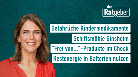"""Themen sind u.a.: Gefährliche Kindermedikamente, Schiffsmühle Ginsheim, """"Frei von...""""-Produkte im Check, Lösemittelfreie Bastelkleber."""