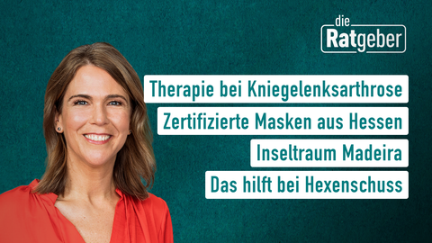 Themen sind: Therapie bei Kniegelenksarthrose, Zertifizierte Masken aus Hessen, Inseltraum Madeira, Das hilft bei Hexenschuss.