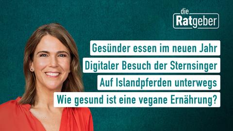 Themen sind: Gesünder essen im neuen Jahr, Digitaler Besuch der Sternsinger, Auf Islandpferden unterwegs, Wie gesund ist eine vegane Ernährung?