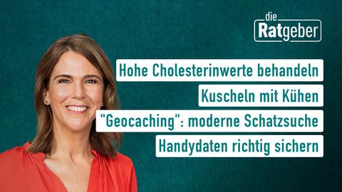 """Themen sind: Hohe Cholesterinwerte behandeln, Kuscheln mit Kühen, """"Geocaching"""": moderne Schatzsuche, Handydaten richtig sichern."""