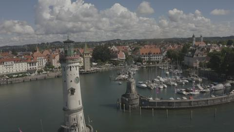 Luftbild von Lindau