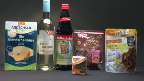 Viele Produkte mit blumigen Namen.