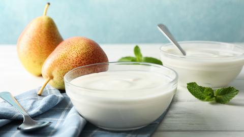 Birne mit Joghurt