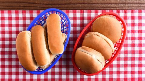 Hot Dog und Burger Brötchen