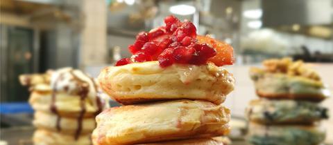 Pencakes mit Granatapfel-Topping