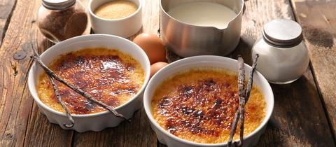klassische Crème brûlée