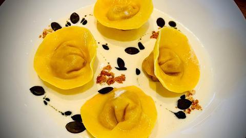 Tortelloni mit Kürbis gefüllt