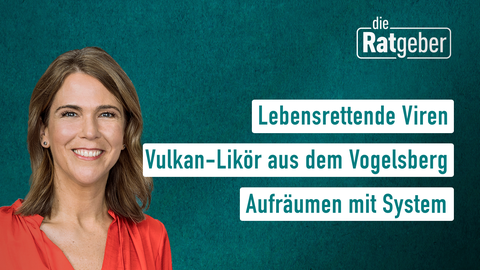 Moderatorin Anne Brüning sowie die Themen: Lebensrettende Viren, Vulkan-Likör aus dem Vogelsberg,  Aufräumen mit System
