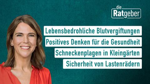 Moderatrin Anne Brüning sowie die Themen: Lebensbedrohliche Blutvergiftungen, Postives Denken für die Gesundheit, Schneckenplagen