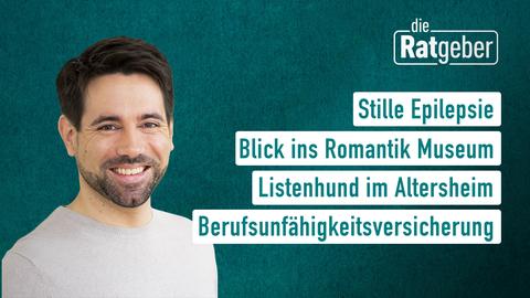 Moderator Daniel Johé sowie die Themen: Stille Epilepsie, Blick ins Romantik Museum, Listenhund in Altersheim, Berufsunfähigkeitsversicherung