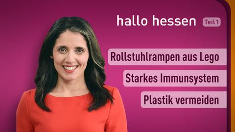 Moderatorin Selma Üsüsk sowie die Themen: Rollstuhlrampen aus Lego, Starkes Immunsystem, Plastik vermeiden