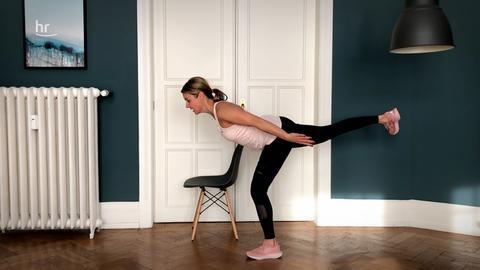 Michaela Holle während einer Übung