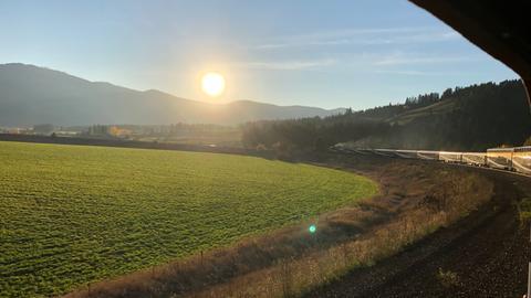 Aussicht aus dem RM bei strahlendem Sonnenschein.