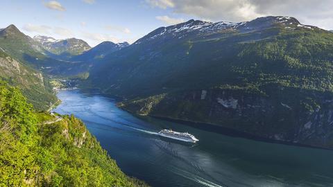 Der Geiranger Fjord in Norwegen