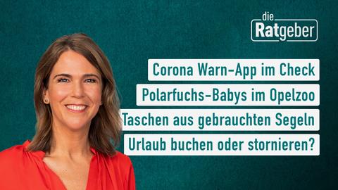 Heutige Themen, u.a.: Corona Warn-App im Check, Polarfuchs-Babys im Opelzoo, Taschen aus gebrauchten Segeln, Urlaub buchen oder stornieren?