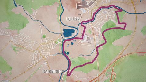 """Karte vom """"Lieblingsweg"""" Lollar"""