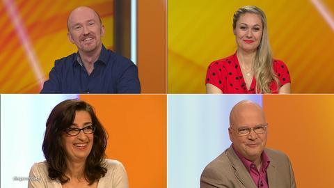 Das Rateteam (v.li.): Peter Nottmeier, Ruth Moschner, Nathalie Licard, Achim Winter