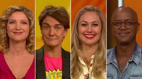 Rateteam: Matze Knop, Susanne Pätzold, Ruth Moschner, Yared Dibaba