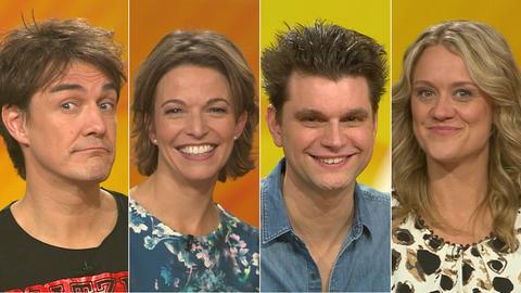 Das Rateteam (v.li.): Matze Knop, Anna Planken, Lutz van der Horst und Lisa Feller