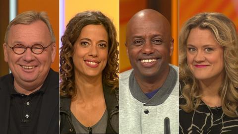 Das Rateteam (v.li.): Bernd Stelter, Gesa Dreckmann, Yared Dibaba und Lisa Feller