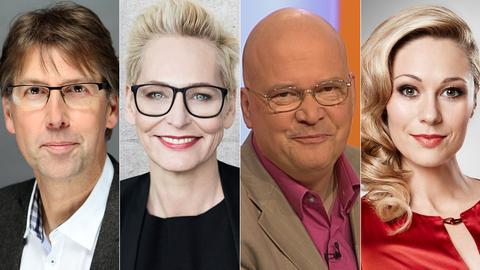 Dings vom Dach Rateteam: Peter Großmann, Bärbel Schäfer, Ruth Moschner, Achim Winter