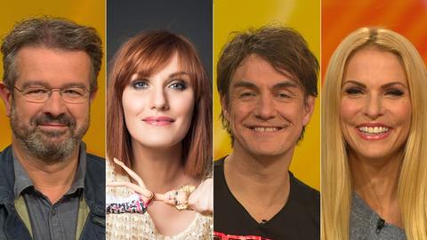 Das Rateteam (v.li.): Manuel Andrack Lena Liebkind Matze Knop, Sonya Kraus