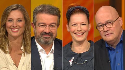 Das Rateteam (v.li.): Kristina zur Mühlen, Manuel Andrack, Enie van de Meiklokjes, Achim Winter
