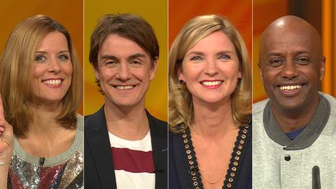 Das Rateteam (v.li.): Miriam Lange, Matze Knop, Susanne Pätzold, Yared Dibaba
