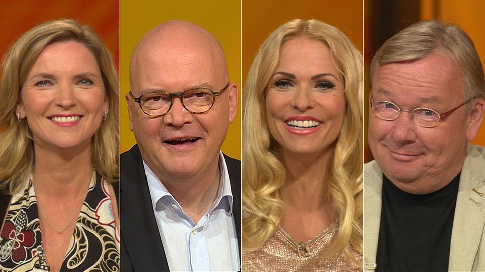Das Rateteam (v.li.): Susanne Pätzold, Achim Winter, Sonya Kraus, Bernd Stelter