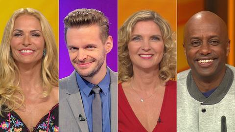 Das Rateteam (v.li.): Sonya Kraus, Florian Schröder, Susanne Pätzold, Yared Dibaba