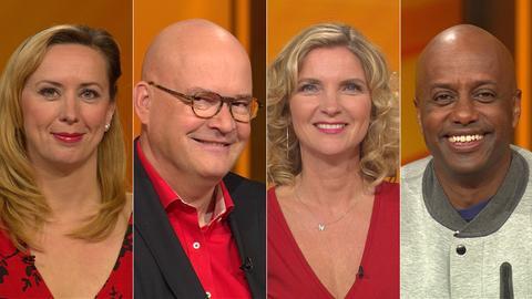 Das Rateteam (v.li.): Martina Brandl, Achim Winter, Susanne Pätzold, Yared Dibaba