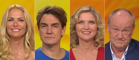 Rateteam: Bodo Bach, Susanne Pätzold, Sonya Kraus, Matze Knop
