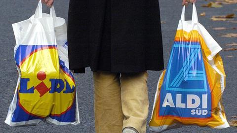 Discounter Aldi Lidl Plastiktüten Einkaufen