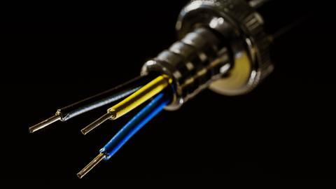 Elektrokabel ohne Isolierung