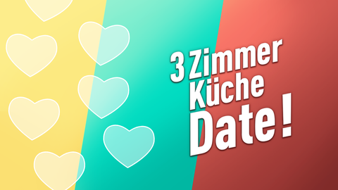 3 Zimmer, Küche, Date Bannerbild mit Logo