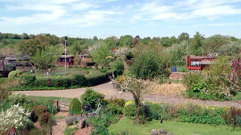 Blick auf die Gartenanlage des Kleingartenvereins Johannisau Fulda.