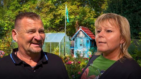 Volker und Steffi Höfner in ihrem Garten
