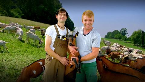 Die Ziegenbauern Frank Simon und Timo Haas vom Bergwinkel