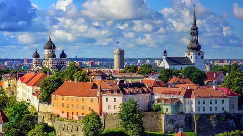 Eine Stadt in Estland