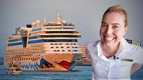 Frau Kapitän auf Kreuzfahrt