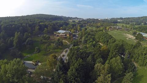 Luftaufnahme über dem Opel-Zoo