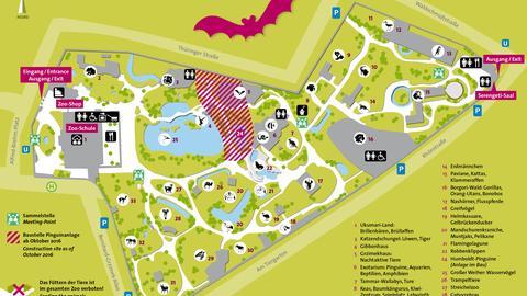 Lageplan Zoo Frankfurt