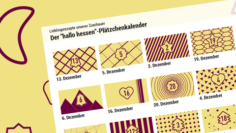 """""""hallo hessen""""-Plätzchenkalender Teaser"""