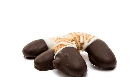 Kipferl mit Schokolade